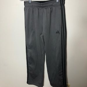 Adidas Women's Gray Striped Sweatpants  with icon